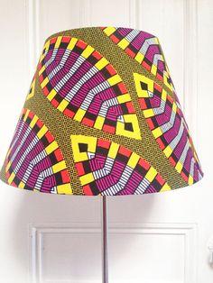 African Wax Print Lampshades