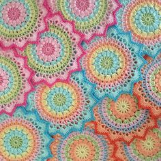 English and Swedish pattern… I hope you all liked magnolia mandala as much as I did. I have seen many different color combinations and all are really wonderful! Thank you so much for sharing …