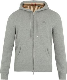 Burberry Claredon Hooded Cotton-blend Sweatshirt In Grey Travel Wardrobe, Burberry Men, Grey Hoodie, Casual Wear, Hooded Jacket, Hoods, Menswear, Mens Fashion, Couture