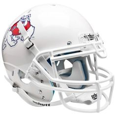 Fresno State Bulldogs White Schutt XP Authentic Helmet - Alternate 2