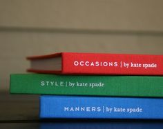 Love them - Kate Spade Books.