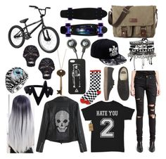 """Another outfit"" by deaththeghoul ❤ liked on Polyvore featuring Yves Saint Laurent, Vans, ODD FUTURE, ASOS and Vivian Jacob"