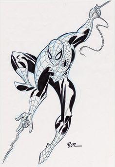 Bruce Timm Spider-Man Comic Art