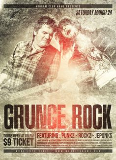 In this tutorial I will show you how to create a Rock poster design in Photoshop. We will create a poster Grunge style using some stock images texture, masking techniques, adjustment layers, blending, filter and typography.