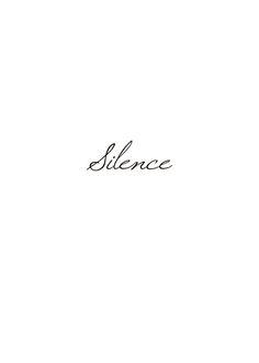 Ljus texttavla i svartvitt | Silence affisch med text | Posters online