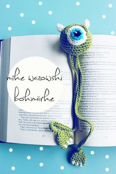 Crochet monster bookmark