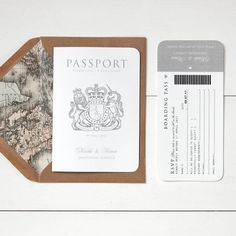 Are you interested in our Travel Wedding Invitation? With our Passport wedding Card you need look no further.