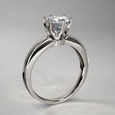ctw Modern Venus Six Prong Diamond Engagement Ring in . Solitaire Ring, Diamond Rings, Diamond Engagement Rings, Wedding Engagement, Wedding Rings, Ring Settings, Black Diamond, Dream Wedding, Diamonds