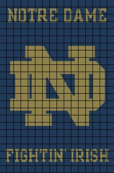 86ebb4eb8d8f  5 Notre Dame Fighting Irish Crochet Afghan Pattern - University of Notre  Dame by AngelicCrochetDesign on Etsy