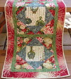 Quilted Table Runner Table Topper Handmade by SharleesQuiltCottage