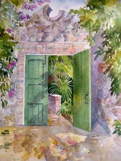 Watercolors by Jinx Morgan - From the Garden