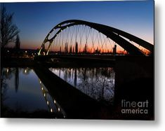 Frankfurt Bridge Sunset Wood Print by Norma Brandsberg. All wood prints are professionally printed, packaged, and shipped within 3 - 4 business days and delivered ready-to-hang on your wall. Sunset Canvas, Sunset Art, Fine Art Prints, Canvas Prints, Thing 1, All Poster, Posters, Great Pic, Photography Photos