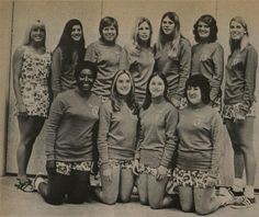 Photograph of the San Fernando Valley State College (now CSUN) women's volleyball team from the campus newspaper, the Daily Sundial, February 16, 1972. Department of Journalism Records.