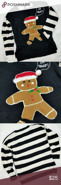 "Christmas Holiday Sweater Ginger Bread Winter - M ️Brand: United States Sweaters ️Size: M ️Condition: Excellent Pre-owned Condition. No holes, rips or stains.  Measurements: (Aprox. Laying flat) ️Pit to pit (Across Chest): 20"" ️ Length : 24"" united estates sweaters Sweaters Crew & Scoop Necks"