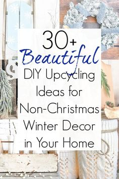 Winter home decor ideas and non Christmas winter decorations Winter Home Decor, Winter House, Diy Home Decor, Diy Party Decorations, Winter Decorations, Winter Wreaths, Diy Furniture Projects, Diy Projects, Recycling Projects