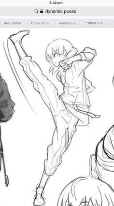 Pose reference kick drawing reference poses, body reference, drawing tips, art reference, Manga Drawing Tutorials, Drawing Techniques, Drawing Tips, Drawing Sketches, Owl Drawings, Drawing Body Poses, Body Reference Drawing, Drawing Reference Poses, Manga Poses