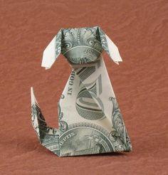 origami dollar dog