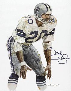 Mel Renfro of the Dallas Cowboys by Merv Corning