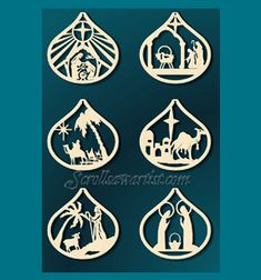 Scroll Saw Patterns :: Holidays :: Christmas :: Traditional ornaments :: Nativity ornaments -