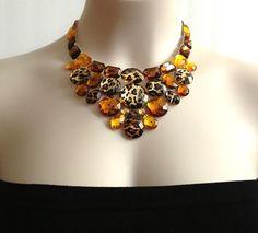 bib necklace leopar sexy and unique