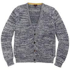 Paul Smith Junior - Paul Smith PSJR - Mottled navy loosestitch knit cardigan - 64039