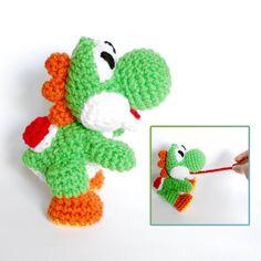 Yoshi Crochet Amigurumi Plush Doll  Inspired by CyanRoseCreations, $24.00