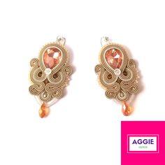Nude soutache earrings
