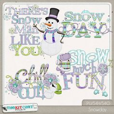 SnowDay Winter Digital Scrapbook Word Art