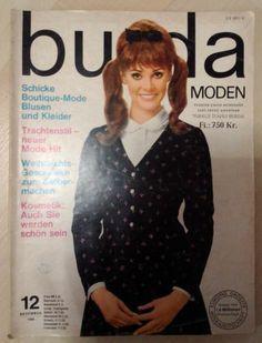 BURDA MODEN Sewing Magazine GERMAN 1966 - All Uncut Patterns - Vintage Fashion.Vintage is Good!
