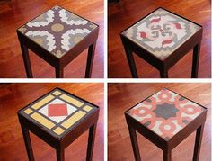 Pisos Calcáreos: Diseñamos mesas y muebles en madera, hierro y mosa... Tile Projects, Steel Furniture, Iron Table, Art Deco Furniture, Tile Tables, Moroccan Decor, Wrought Iron Design, Tile Work, Furniture