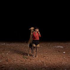 Cães abandonados e crianças órfas em Bangladesh. Fotos: Sam Edmonds