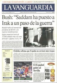 17 de septiembre 1990   Portada de el periodico La vanguardia el día que nací.