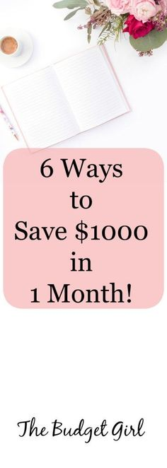save money tips, save $1000 in one month, save money quickly