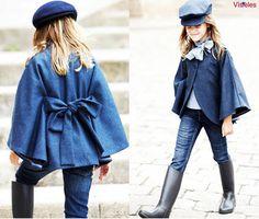 #abrigo #manteau #coat #capa #vestido #niña #estilo #elegante #dress #girl…