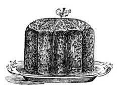 Image of a Christmas Pudding from an early edition Mrs. Beeton's Book of Household Management