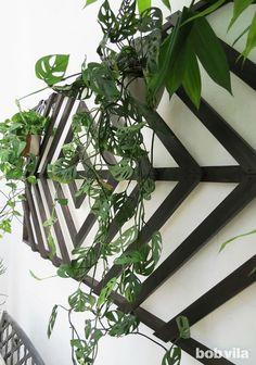 3 DIY for a patio upgrade - Ohoh deco Wall Trellis, Diy Trellis, Garden Trellis, Lattice Wall, Trellis Ideas, Herbs Garden, Fruit Garden, Diy Patio, Backyard Patio
