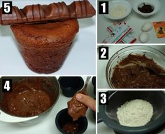 TUTO : GÂTEAU KINDER BUENO Chocolate Desserts, Mousse, Mashed Potatoes, Pudding, Ethnic Recipes, Spin, Food, Sweets, Recipes