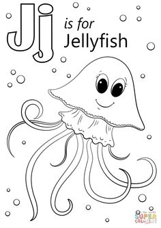 Letter J is for Jellyfish | Super Coloring
