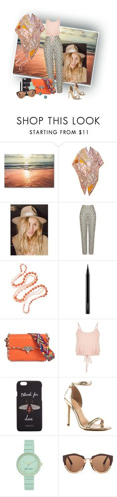 """Untitled #201"" by jonestyle ❤ liked on Polyvore featuring Hermès, Lack of Color, Rosantica, MAC Cosmetics, Valentino, Gucci, ALDO, Nine West and Marni"