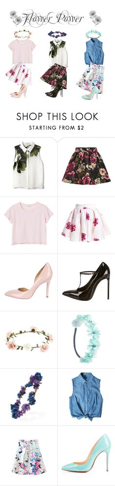 """Flower Power"" by theicecreamery ❤ liked on Polyvore featuring Elle Sasson, Girls On Film, Monki, Charlotte Olympia, Yves Saint Laurent, Accessorize, Wet Seal, Forever 21, Chicnova Fashion and Wall Pops!"