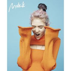 Grimes for Modzik Magazine Issue 46. Photographed by Sascha Heintze