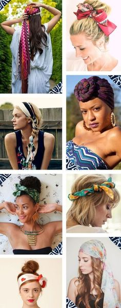 Head tie - New Site Bandana Hairstyles, Pretty Hairstyles, Bad Hair, Hair Day, Bandana Pelo, Curly Hair Styles, Natural Hair Styles, Corte Y Color, Hair Hacks