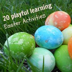 20 Easter Activities for kids that will keep you playfully learning this spring. Art, math, science, movement, reading and sensory activities for kids. Fun Easter Games, Easter Activities For Kids, Spring Activities, Easter Crafts For Kids, Fun Activities, Holiday Activities, Easter Ideas, Holiday Crafts, Holiday Fun