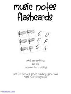 Music Notes Flashcards FREE>>>>