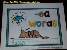 15 Printable Phonics Mini-Books for 15 word Families, perfect for the beginning of the school year, first semester for your Word Work Station. $Paid