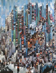 Centre Vasculaire de l'Art Contemporain - 2001 - 146 x 114 cm    Photographies marouflées sur toile