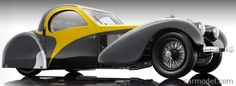 BAUER BA 7828-Z75Y Scale 1/12  BUGATTI TYPE 57SC ATALANTE 1939 BACK YELLOW