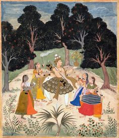 Vasant Ragini: Folio from a ragamala series (Garland of Musical Modes), early 17th century. India (Rajasthan, Amber).