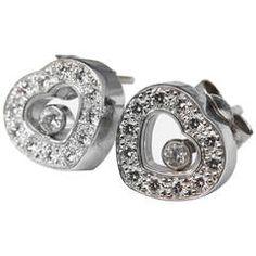 Chopard Diamond Gold Happy Diamonds Stud Earrings