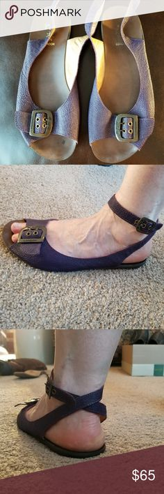 Fly London Sandals Purple Leather European Size 40 (U.S. 9.5/10) No box Excellent Used Condition Fly London Shoes Sandals